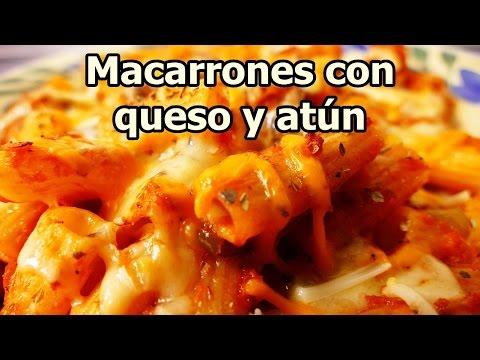 MACARRONES CON QUESO Y ATUN - recetas de cocina faciles rapidas y economicas de hacer en casa