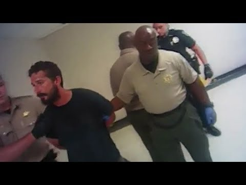 Busted! Shia LaBeouf's arrest caught on camera