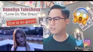 Daneliya Tuleshova - Love on The Brain | REACTION