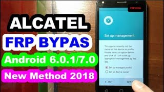 Alcatel FRP bypass 6 0 1/7 0 new method 2017 Alcatel 5038x
