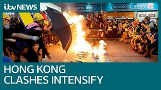 Hong Kong protesters clash with police in ninth weekend of demonstrations   ITV News