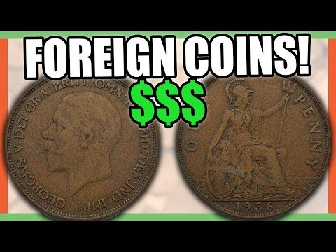 5 FOREIGN COINS THAT ARE WORTH MONEY - GREAT BRITAIN PENNY COINS TO LOOK FOR!!! Mp3