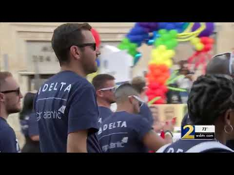 Thousands of people, floats, and bands took to the streets of Atlanta for Pride