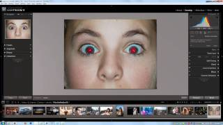 How to Fix Red Eye using the Red Eye Correction Tool - Lightroom 3 Video Tutorial