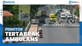 Viral Video Ambulans Lawan Arah Tabrak Pemotor di Banyuwangi, Korban Ternyata Anggota Polisi