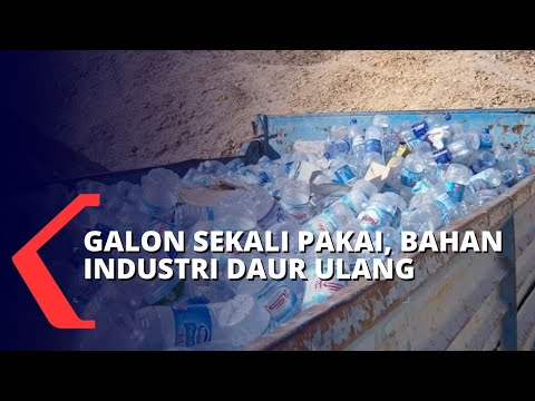 wah galon sekali pakai bisa jadi bahan baku industri daur ulang