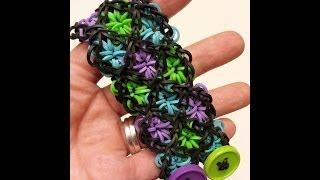 ONE loom Stained Glass Rainbow Loom Bracelet Tutorial