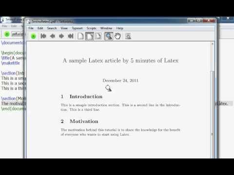 Μάθετε τα βασικά για το LaTeX σε 5 λεπτά