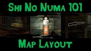 Zombies 101 :: Shi No Numa 101 :: Map Layout, Perk Locations, Mystery Box Locations, Walkthrough