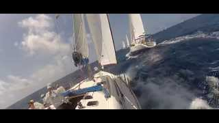 preview picture of video 'Team LTU-515 @ Antigua Sailing Week 2014 on board Tintamarre'