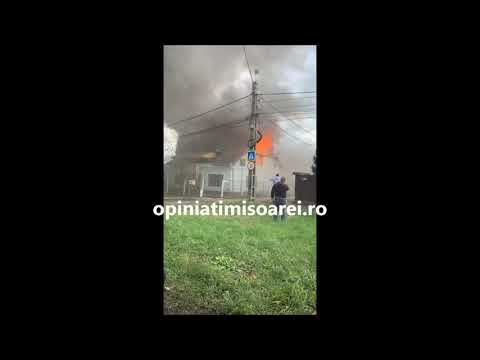 Incendiu violent la Timisoara. Coloana de fum este vizibila din mai multe zone ale orasului