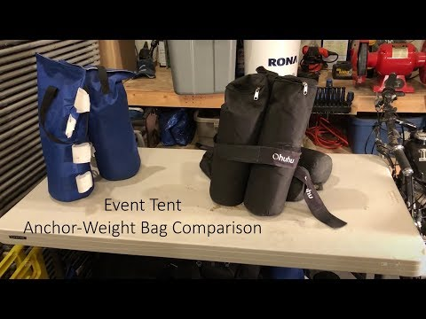 Event Tent - Canopy Weight Bags Comparison - Ohuhu Vs Giga!