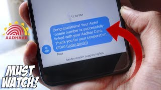 LINK YOUR AADHAR CARD WITH MOBILE NUMBER/SIM CARD IN 5 MINUTES WITHOUT INTERNET