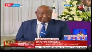 Francis Ole Kaparo speaks during Nicholas Biwott's funeral service