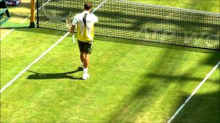 preview picture of video 'Matchball Kohlschreiber vs Monfils Halbfinale Halle 2011'