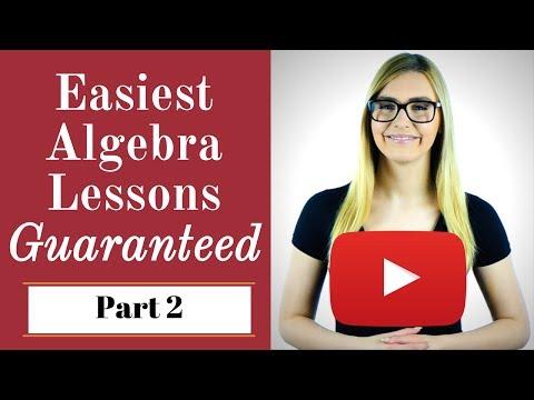 Algebra : Basic Algebra Lessons for Beginners (P2) --  Get Full Free Course Today