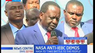 NASA insists on resuming demonstrations seeking the removal of IEBC officers