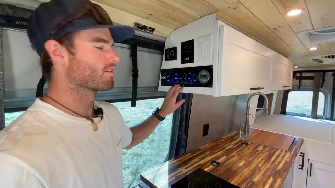 VAN TOUR | Sprinter 170″ 4×4 with amazing shower | Rossmönster Vans