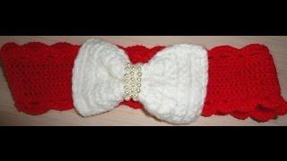 Вязаная повязка на голову  Вязаная повязка для девочки крючком