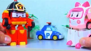 Мультики для детей  Робокар Полли  Хели помогает самолетику