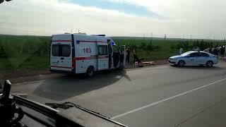 Столкновение автофуры и Газели на автодороге Караганда-Темиртау