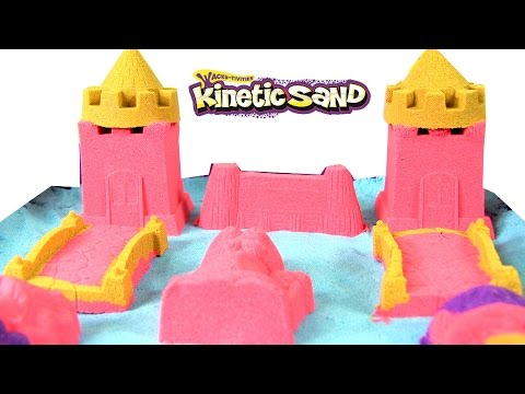 Kinetic Sand Sandbox and Molds - BLUE & Red/Orange Colors - Unboxed & Reviewed by Rainbow Collector