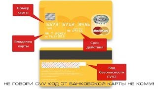 Не говори CVV код от банковской карты не кому!!!