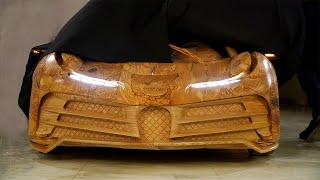 Làm Bugatti Centodieci bằng gỗ cho con trai, người cha Việt lên báo nước ngoài