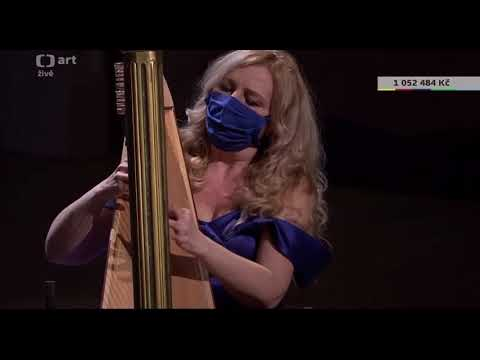 JANA BOUŠKOVÁ plays MOLDAU /VLTAVA by B.SMETANA at the BENEFICIAL CONCERT of the CZECH PHILHARMONIC