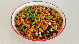 Chat Pati Chana Boondi Chat- Loads of Vegetables-Full of Proteins,Vitamins & Fibers-2 Minute Recipe
