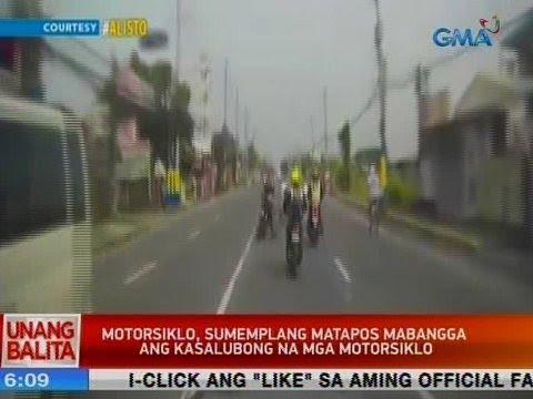 [GMA]  UB: Motorsiklo, sumemplang matapos mabangga ang kasalubong na mga motorsiklo
