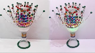 Guldasta/tealight holder/showpiece from plastic bottle at home|Best out of waste|DIY tealight holder