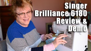 Singer Sewing Machine for BEGINNERS | Singer Brilliance 6180 Review and Demo | Complete Information