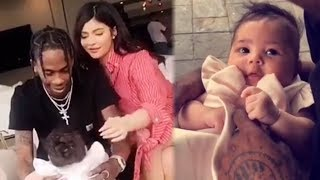 Kylie Jenner & Travis Scott GUSH Over Baby Stormi in Adorable Easter Video