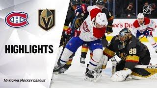 NHL Highlights   Canadiens @ Golden Knights 10/31/19