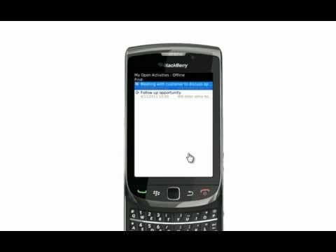Dynamics CRM Mobility for Blackberry Demonstration