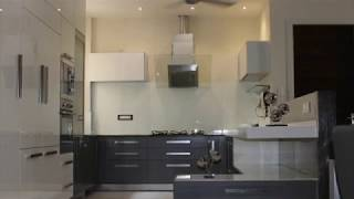 Grey And White Acrylic Modular Kitchen Design By Ideas Kitchens