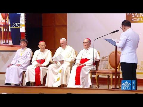 Visite du pape François à l'hôpital Saint-Louis (Thaïlande)