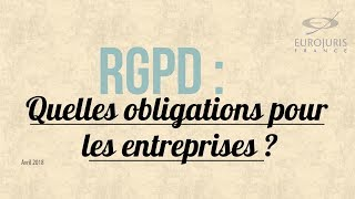 RGPD : quelles obligations pour les entreprises ?