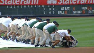 DET@NYY: Rain forces a delay at Yankee Stadium