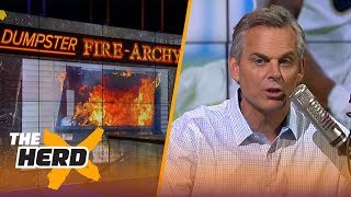 Colin Cowherd's 'Dumpster fire-archy' | NFL | THE HERD
