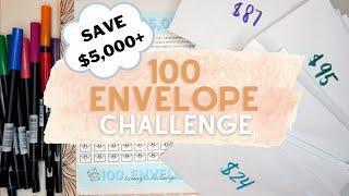 100 Envelope & 52 Week Savings Challenge 2021 | Saving $6,428