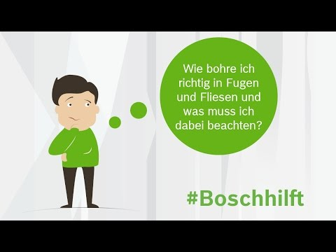 DIY-Tipp: Löcher in Fliesen und Fugen bohren. Tutorial. #Boschhilft