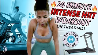 20 Minute Intense HIIT Treadmill Workout
