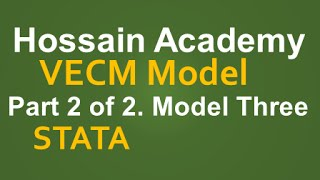 VECM. Part 2 of 2. Model Three. STATA