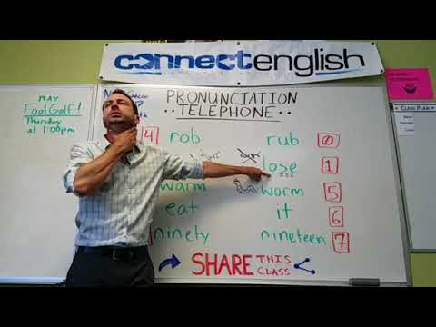 Connect English Pronunciation Telephone, Volume 14 - Mission Valley Campus