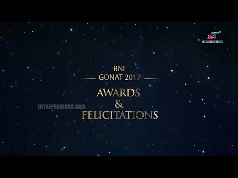 BNI Hyderabad GONAT 2017 Awards and Felicitations - Entrepreneurs Talk