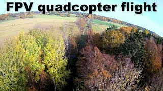 Quadcopter FPV video - Autumn flight
