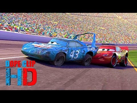 Cars   2006   The King Crashing At Finish Line, Last Race. Best Ending! (8/8) DopeClips