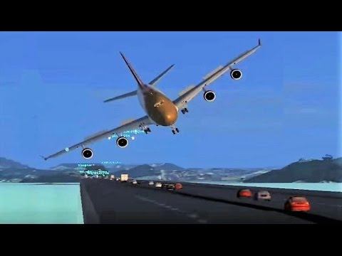 Realistic Flight Simulator landing in Las Vegas + FUNNY